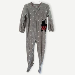 Carter's One Piece Scotty Dog Footed Pajamas